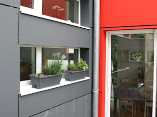 Extension pittoresque Balcon, Veranda & Terrasse modernes par aPOTHèME aRCHITECTURE Moderne