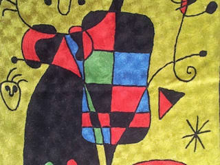 Miro wall art rugs Modern walls & floors by kashmir modernart gallery Modern