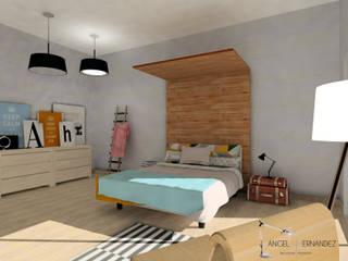 DORMITORIO NÓRDICO Habitaciones de estilo escandinavo de A|H Decoración e interiorismo Escandinavo