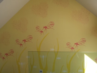 Dragonfly Wallpaper Commission by Camilla Meijer Modern
