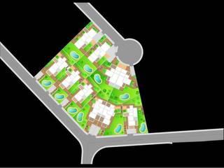 10 viviendas El Pinar:  de estilo  de Muxacra Arquitectos