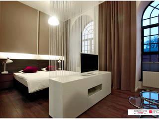 Borowczyk Architekci Modern style bedroom