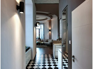 Industrial style corridor, hallway and stairs by Borowczyk Architekci Industrial