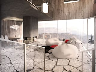 Ruang Keluarga oleh Zalewski Architecture Group, Modern