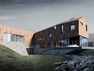 LEDGE HOUSE: styl , w kategorii Domy zaprojektowany przez Zalewski Architecture Group