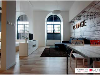 Minimalist living room by Borowczyk Architekci Minimalist