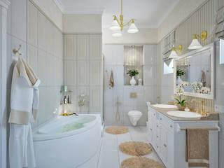 モダンスタイルの お風呂 の Студия дизайна Interior Design IDEAS モダン
