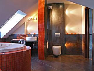 łazienka : styl , w kategorii  zaprojektowany przez FIRMAMENT arch.Renata Kula,
