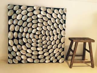 Schelpenschilderij 100x100cm:   door Woodlovesyou&more
