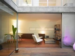 Bodenbelag Terrasse und Wohnzimmer Moderner Balkon, Veranda & Terrasse von Ecologic City Garden - Paul Marie Creation Modern