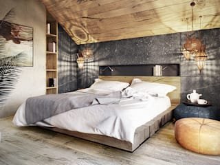 Modern style bedroom by razoo-architekci Modern