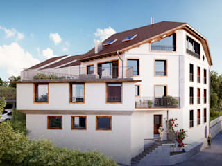 Casas rústicas de von Mann Architektur GmbH Rústico
