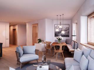 Rustic style dining room by von Mann Architektur GmbH Rustic