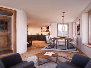 Salas de jantar  por von Mann Architektur GmbH
