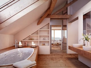 Rustic style bathrooms by von Mann Architektur GmbH Rustic