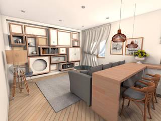 Квартира в Южном городе: Гостиная в . Автор – A.workshop,
