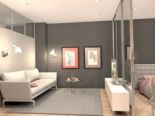 Квартира на ул. Полевая: Гостиная в . Автор – A.workshop,