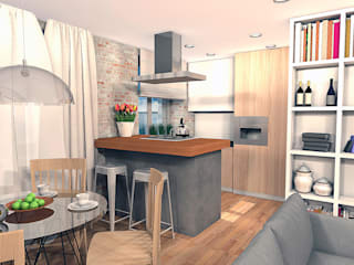 Квартира на ул. Первомайская: Кухни в . Автор – A.workshop,