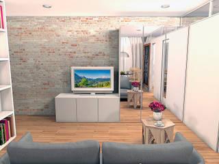Квартира на ул. Первомайская: Гостиная в . Автор – A.workshop,