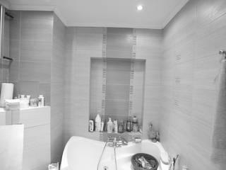 niebieska łazienka i wc: styl , w kategorii  zaprojektowany przez Zbigniew Winiarczyk