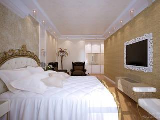 Ausgefallene Schlafzimmer von Студия интерьерного дизайна happy.design Ausgefallen