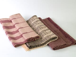 Handwoven Cotton Throws / Blankets : modern  by Teresa Georgallis, Modern