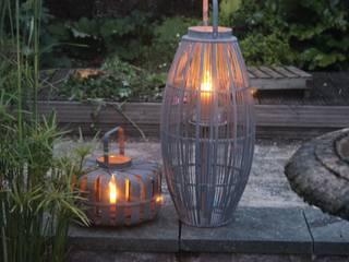 """Grey Broste Bamboo Wooden Lantern """"Aleta"""" por Greige Escandinavo"""