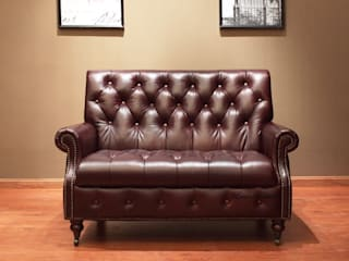 A Leather Chair for Two Locus Habitat Living roomSofas & armchairs