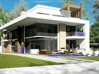 FACHADA: Casas  por TRAÇO FINAL ARQUITETURA E INTERIORES,