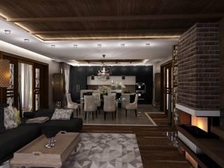 Студия дизайна Натали Хованской Industrial style dining room