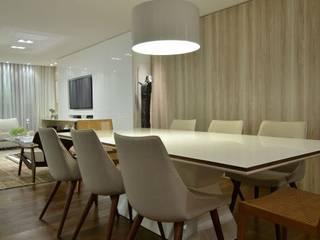 Projekty,  Jadalnia zaprojektowane przez karen feldman arquitetos associados, Nowoczesny
