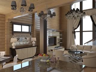 Livings de estilo  por архитектор-дизайнер Алтоцкий Михаил (Altotskiy Mikhail), Rústico