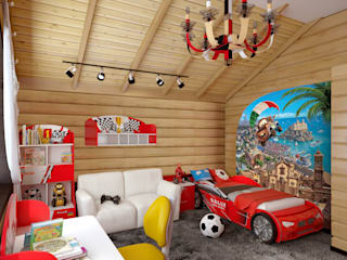 Rustic style nursery/kids room by архитектор-дизайнер Алтоцкий Михаил (Altotskiy Mikhail) Rustic