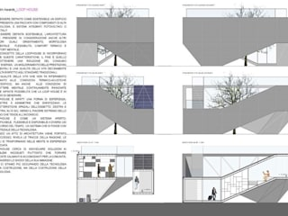 LOOP HOUSE: Case in stile in stile Moderno di HIDDENOFFICE
