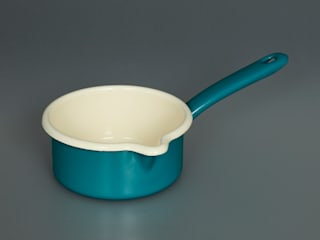Enamel Milk Pan:   by Labour and Wait