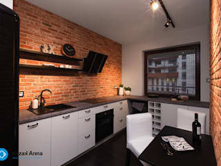 Scandinavian style kitchen by Anna Krzak architektura wnętrz Scandinavian