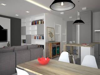 Kameleon - Kreatywne Studio Projektowania Wnętrz Scandinavian style dining room