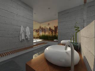 Kameleon - Kreatywne Studio Projektowania Wnętrz Minimalist style bathroom