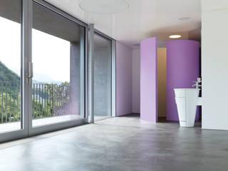 Beton Ciré: moderne Schlafzimmer von Beton-Ciré