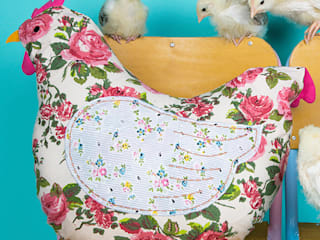 Country Chic Hen Cushion:   by Sass & Belle