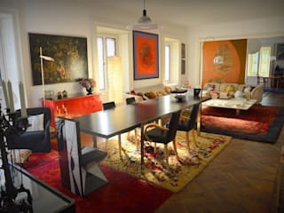 Eclectic style dining room by Studio Fori Eclectic