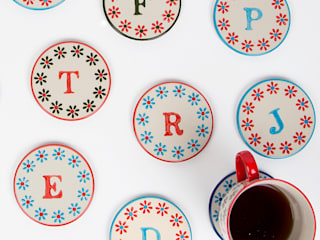 Bohemian Letter Coasters:   by Sass & Belle
