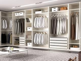 Armario vestidor con mucha capacidad de almacenaje:  de estilo  de Muebles Fun