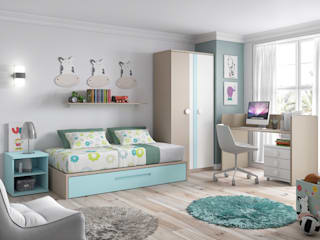 Cuna convertida a cama de 90x190cm:  de estilo  de Muebles Fun