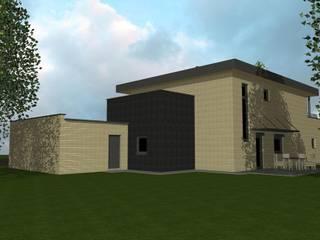 LesSaules - Vue Nord-Est: Maisons de style de style Moderne par Agence d'Architecture Voyelles