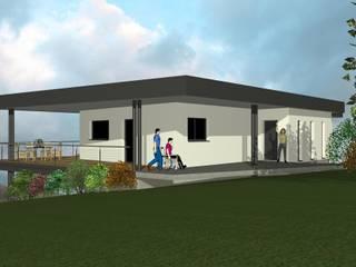 CapDeLaVigne - Vue Nord-Est: Maisons de style de style Moderne par Agence d'Architecture Voyelles