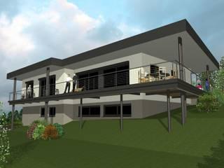 CapDeLaVigne - Vue Sud-Est: Maisons de style de style Moderne par Agence d'Architecture Voyelles