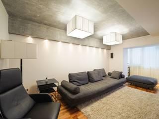 Редизайн четырехкомнатной квартиры в г. Саратов: Гостиная в . Автор – Студия Павла Исаева