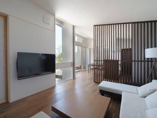 现代客厅設計點子、靈感 & 圖片 根據 矩須雅建築研究所 現代風