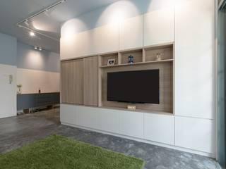 스칸디나비아 거실 by Eightytwo Pte Ltd 북유럽